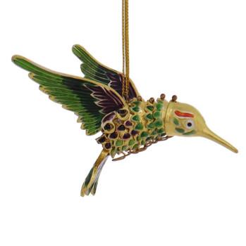 Cloisonne Hummingbird Ornament
