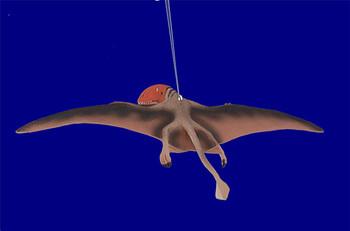dimorphodan flying dinosaur ornament inset