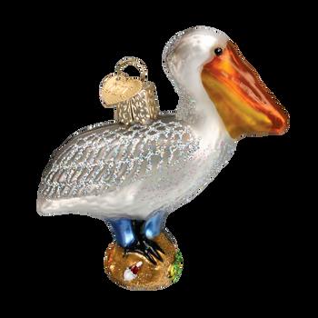 Pelican Glass Ornament