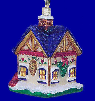 Birdhouse Our New Home Old World Christmas Glass Ornament 20052 inset