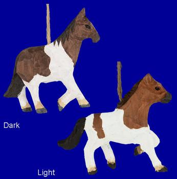 wood horse ornaments inset