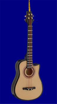 "Mini Acoustic Bass Guitar Ornament - Wood, 5 1/8"", 4 String #BG7892"