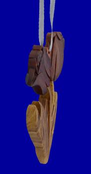 intarsia wood tulip ornament inset