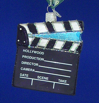 Film Movie Directors Board Old World Christmas Glass Ornament 36111