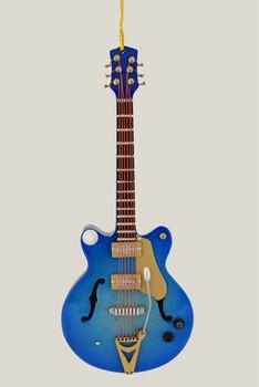 blue electric guitar ornament inset