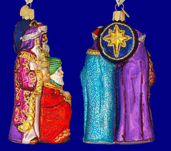 Three Wise Men Kings Old World Christmas Glass Ornament 24083 inset
