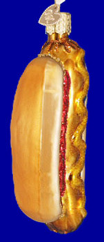 Hot Dog Old World Christmas Glass Ornament 32050 inset