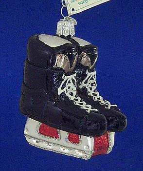 Hockey Skates Old World Christmas Glass Ornament 44046