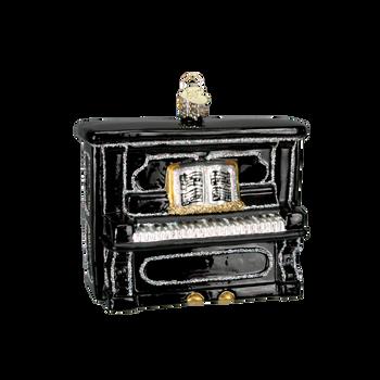 Piano Glass Ornament black