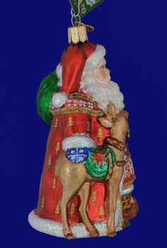 Nordic Santa Glass Ornament by Old World Christmas 40104 side view