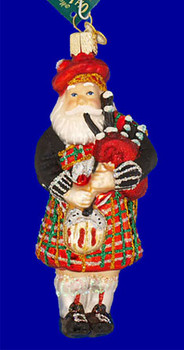 Scottish Highland Bagpipes Player Old World Christmas Glass Ornament 40139