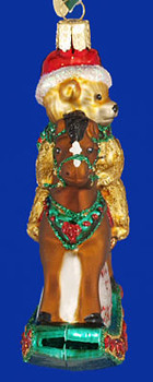 Babys st Christmas Rocking Horse Old World Christmas Glass Ornament 44034 inset