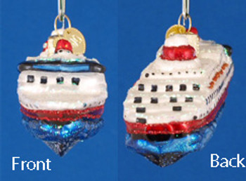Cruise Ship Old World Christmas Glass Ornament 46030 inset