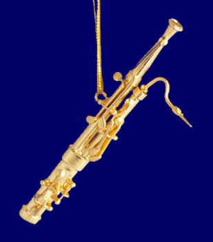 Brass Bassoon Ornament Mini Bassoon 3.25 Small