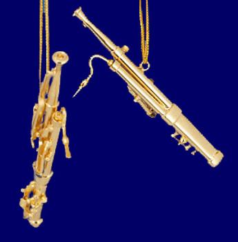 Brass Bassoon Ornament Mini Bassoon 3.25 Small inset