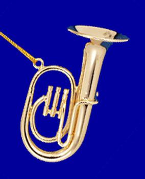 Baritone Tuba Ornament Mini Tuba Gold Brass 2 Small
