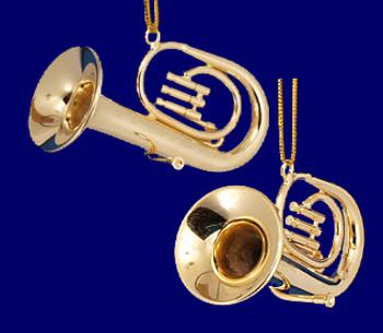 Baritone Tuba Ornament Mini Tuba Gold Brass 2 Small inset