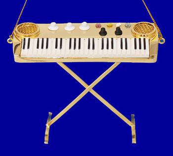 Keyboard Ornament Mini Keyboard with metal legs Gold Brass 3
