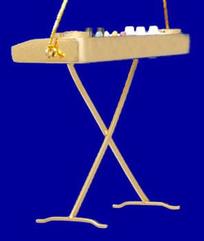 Keyboard Ornament Mini Keyboard with metal legs Gold Brass 3 inset