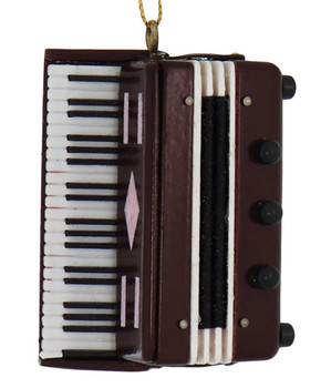Mini Accordion Ornament - Wood
