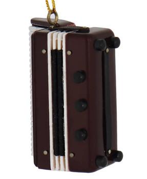 Mini Accordion Ornament - Wood top