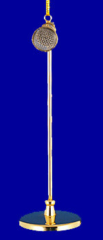 Microphone on Stand Ornament Miniature Microphone 4 inset