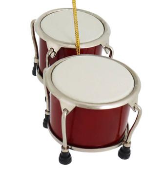 Mini Bongo Drums Ornament top