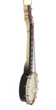Mini Banjo Ornament - Wood right side
