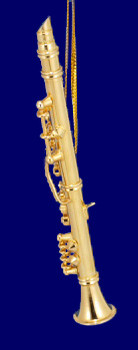 Clarinet Ornament Mini Clarinet Gold Brass 3 Small inset