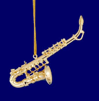 Alto Saxophone Ornament Mini Sax 3.25 Gold Brass Small