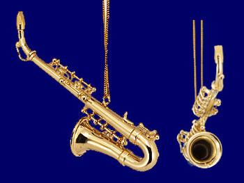 Alto Saxophone Ornament Mini Sax 3.25 Gold Brass Small inset