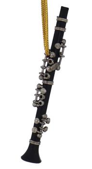 Mini Clarinet Ornament - Black Wood