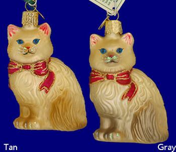 Himalayan Cat Old World Christmas Glass Ornament 12089