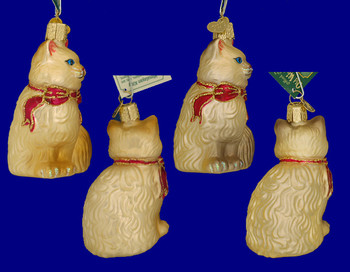 Himalayan Cat Old World Christmas Glass Ornament 12089 inset