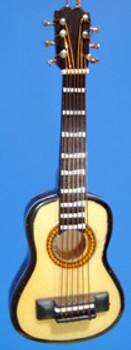 Folk Guitar Ornament Miniature Folk Guitar Wood 4