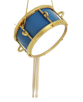 Mini Snare Drum Ornament side front
