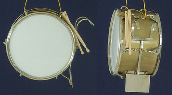 Marching Band Bass Drum Ornament Miniature Bass Drum inset
