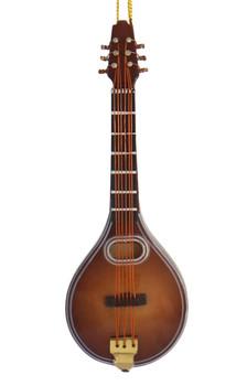 Mini Mandolin Ornament - Wood