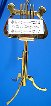 Music Stand Ornament Miniature Brass Music Stand up to 4