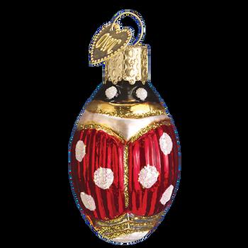 Lucky Ladybug Glass Ornament