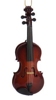"Mini Violin Ornament - Wood, 4"" Small"