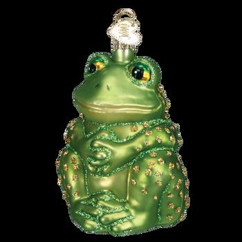 Sitting Frog Glass Ornament