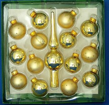Miniature Christmas Ornaments plus Mini Tree Topper Set inset