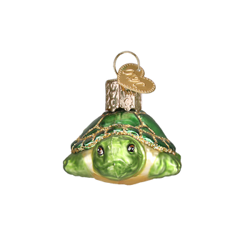 Small Turtle Glass Ornament front