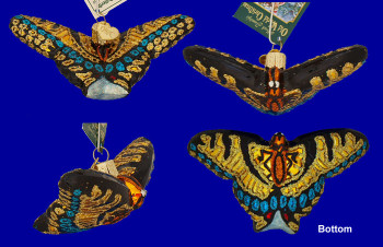 Swallowtail Butterfly Old World Christmas Glass Ornament 12164 inset