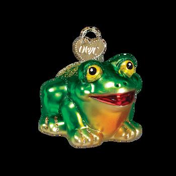 """Miniature Frog Glass Ornament, 1 3/4 x 2"""", OWC #12166"""