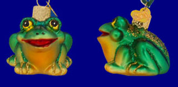Miniature Frog Old World Christmas Glass Ornament 12166 inset