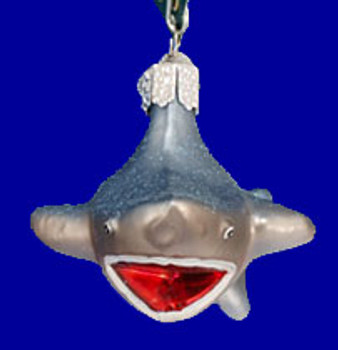 Shark Old World Christmas Glass Ornament 12175 inset