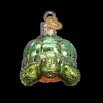 Tortoise Glass Ornament Front