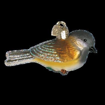 Black-Capped Chickadee Glass Ornament